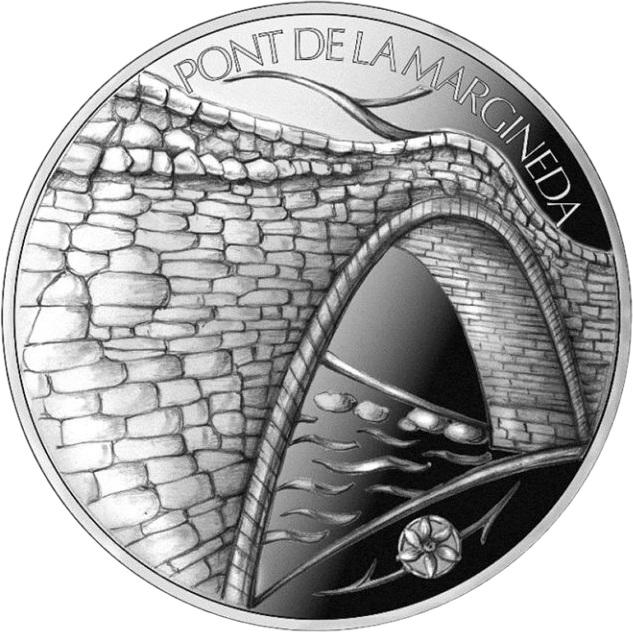 Андорра монета 1,25 евро Мост Ла Марджинеда в Сант-Жулия-де-Лория, реверс