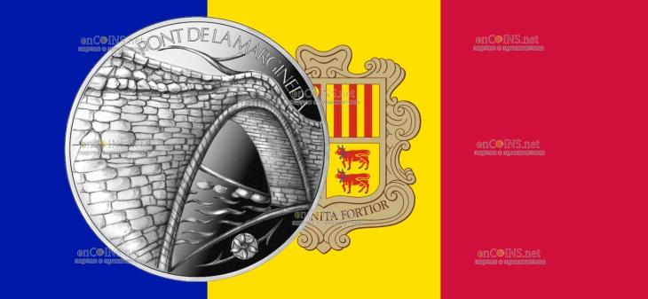 Андорра монета 1,25 евро Мост Ла Марджинеда в Сант-Жулия-де-Лория