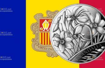 Андорра монета 1,25 евро Нарцисс