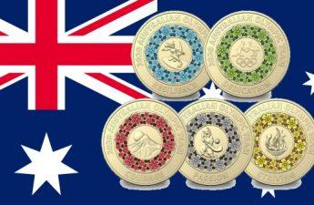 Австралия 2-долларовые монеты к ОИ в Токио