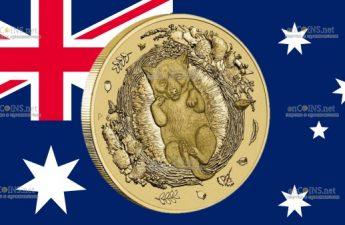 Австралия монета 1 доллар Мечтательная Динго