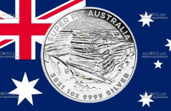 Австралия монета 1 доллар Золотой рудник Super Pit