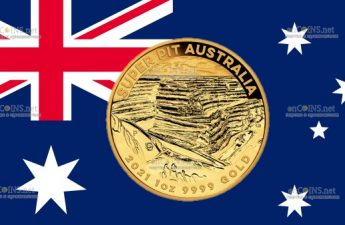 Австралия монета 100 долларов Золотой рудник Super Pit