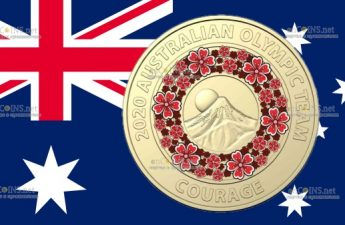 Австралия монета 2 доллара Фудзи