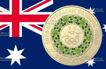 Австралия монета 2 доллара лого Олимпийской сборной Австралии