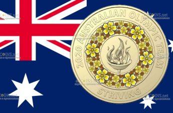 Австралия монета 2 доллара Олимпийский факел