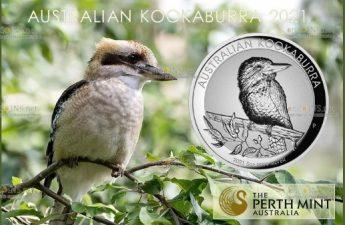 Австралия монета 8 долларов Кукабары