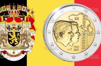 Бельгия монета 2 евро Столетие экономического союза BLEU