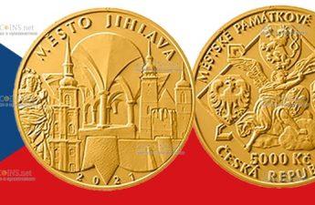 Чехия монета 5000 крон Йиглава