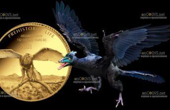 Демократическая Республики Конго выпустила монету 100 франков Археоптерикс