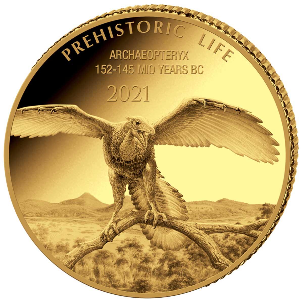 Демократическая Республики Конго выпустила монету 100 франков Археоптерикс, реверс
