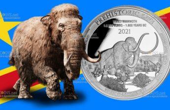 Демократическая Республики Конго выпустила монету 20 франков Мамонт