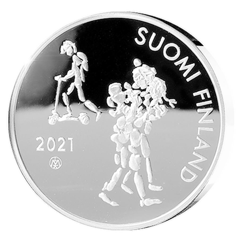 Финляндия монета 20 евро 100-летию Закона об обязательном образовании в Финляндии, аверс