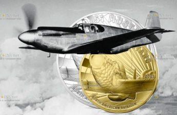 Франция монета 50 евро Мустанг P51