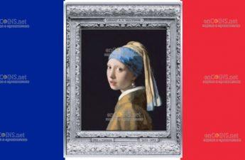 Франция монета 250 евро Девушка с жемчужной серёжкой