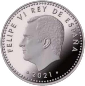 Испания 10 евро 2021 год, аверс