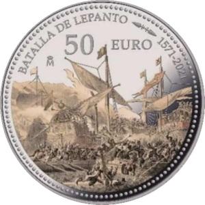 Испания 50 евро Битва при Лепанто, реверс