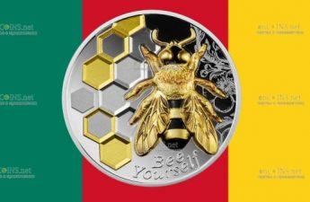 Камерун монета 1000 франков Пчела