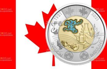 Канада монета 2 доллара Открытие инсулина