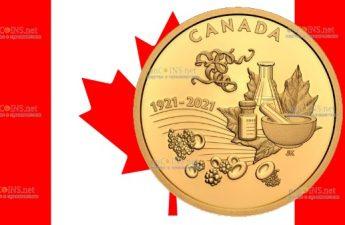 Канада монета 200 долларов Открытие инсулина