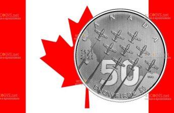 Канада монета 5 долларов Снегири