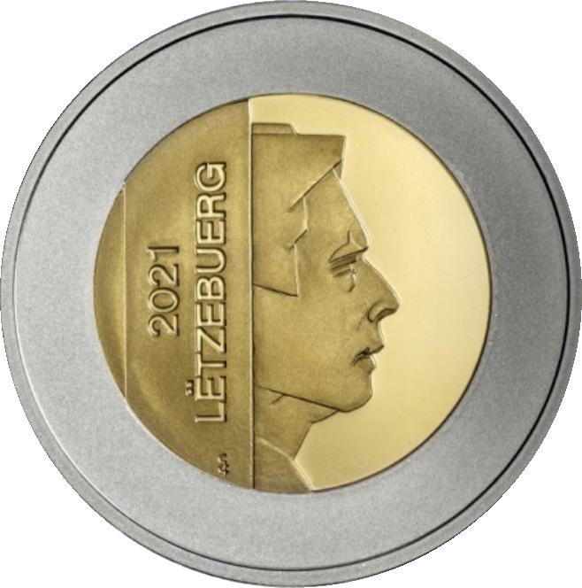 Люксембург монета 10 евро Прыткая ящерица, аверс
