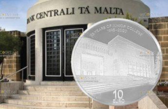 Мальта монета 10 евро к 25-летию открытия колледжа