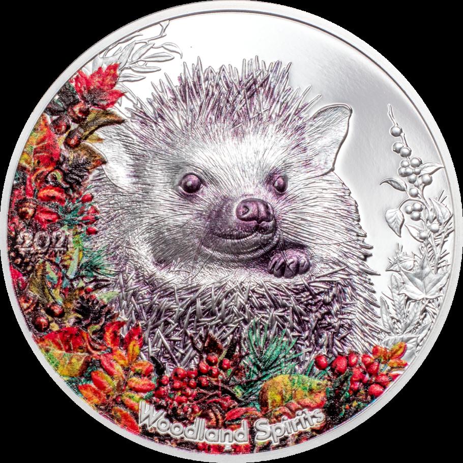 Монголия монета номиналом 500 тугриков Ежик, реверс