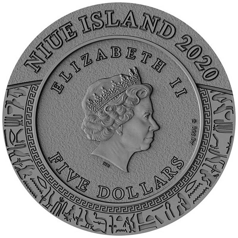 Ниуэ монета 5 долларов Гор, аверс
