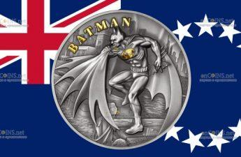 Острова Кука выпускает монету 10 долларов Бэтмен