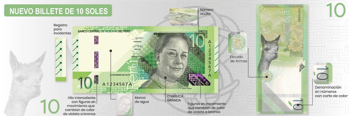 Перу банкнота 10 соль