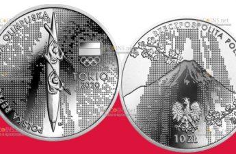 Польша монета 10 злотых Олимпийская сборная Польши в Токио 2020
