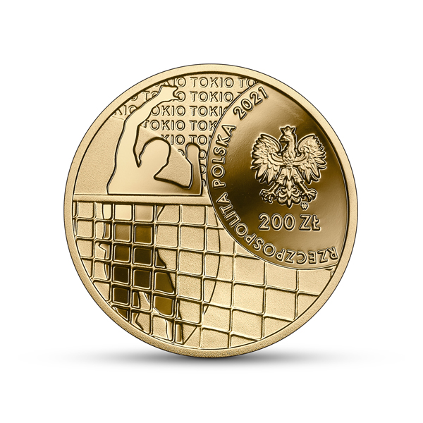 Польша монета 200 злотых Олимпийская сборная Польши в Токио 2020, аверс