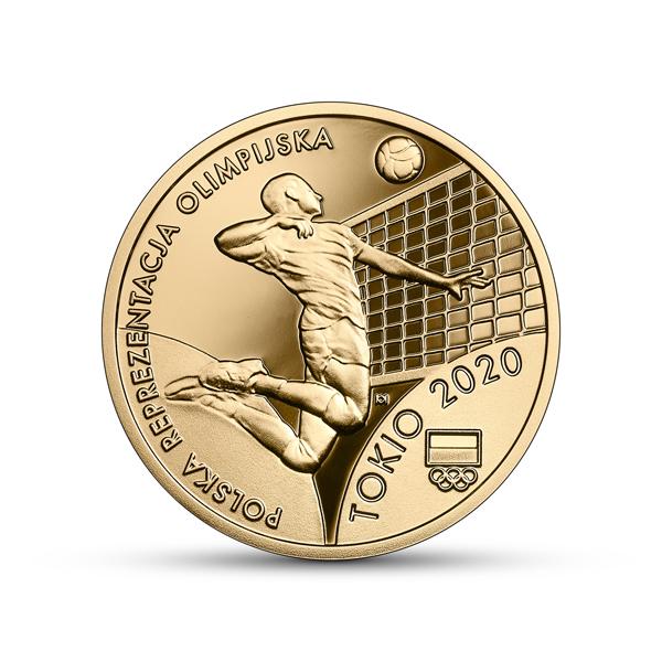 Польша монета 200 злотых Олимпийская сборная Польши в Токио 2020, реверс