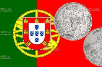 Португалия монета 5 евро Морской конек