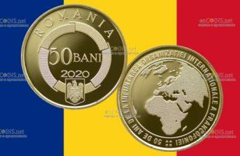 Румыния монета 50 бани Международная организация франкоязычных стран
