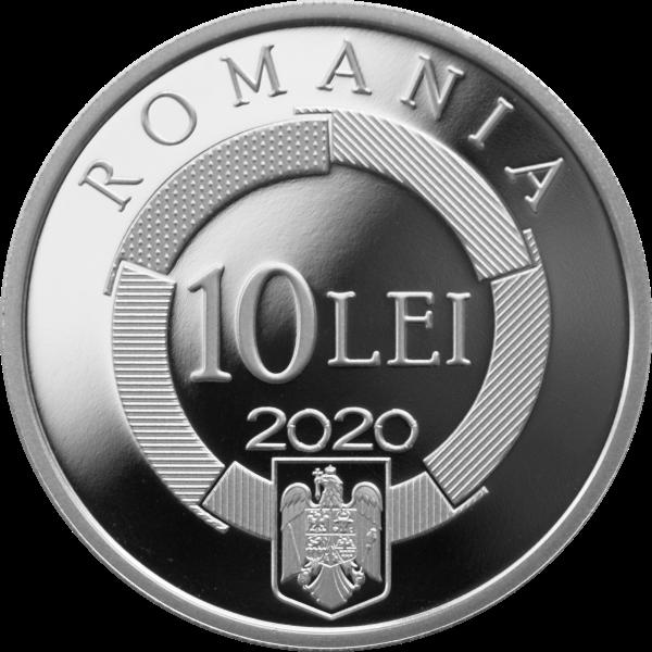 Румыния монетау 10 леев Международная организация франкоязычных стран, аверс