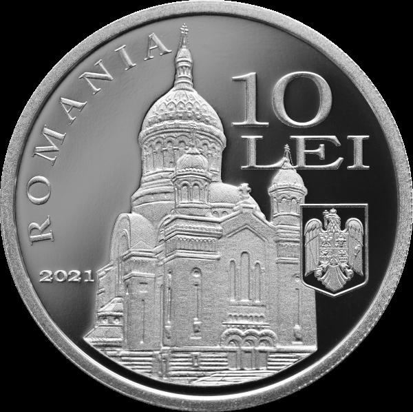 Румыния монета 10 леев митрополит Варфоломей Ананий, аверс