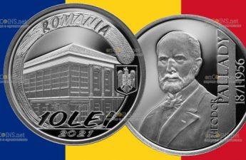 Румыния монета 10 леев Теодора Паллади
