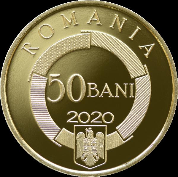 Румыния монета 50 бани Международная организация франкоязычных стран, аверс
