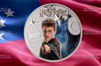 Самоа монета 10 долларов Гарри Поттер