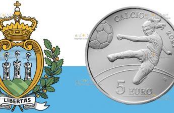 Сан-Марино монета 5 евро Футбол