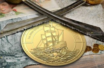 Соломоновы острова монета 100 долларов Энн Бонни