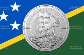 Соломоновы острова монета 2 доллара Энн Бонни