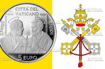 Ватикан монета 5 евро Сообщество Святых Петра и Павла