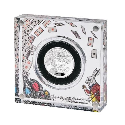 Великобритания монета 1 фунт Приключения Алисы в Стране чудес, подарочная упаковка