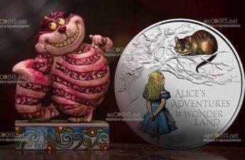 Великобритания монета 2 фунта Приключения Алисы в Стране чудес