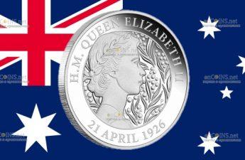 Австралия 1 доллар к 95-летию со дня рождения королевы Елизаветы II