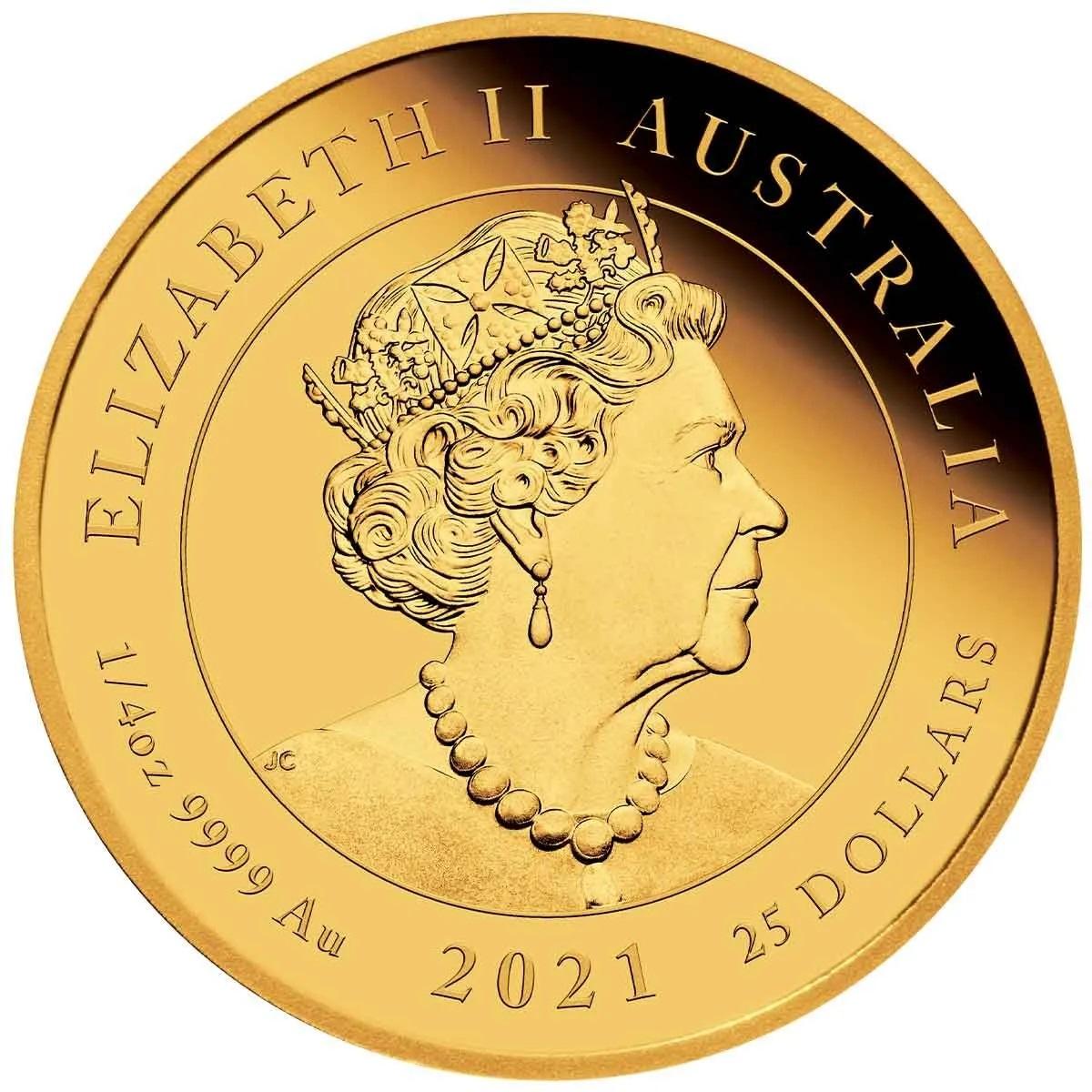 Австралия 25 доллара к 95-летию со дня рождения королевы Елизаветы II, аверс