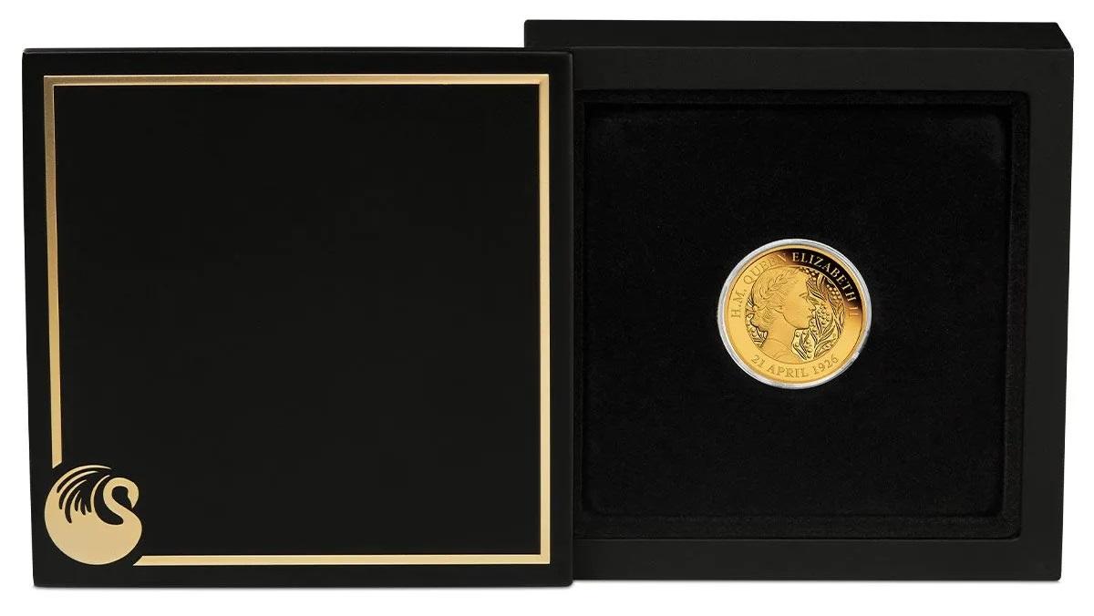 Австралия 25 доллара к 95-летию со дня рождения королевы Елизаветы II, подарочная упаковка